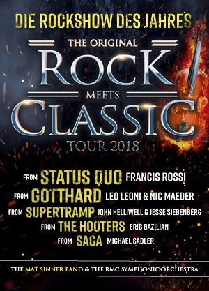Rock meets Classic - mit großem Orchester & Rockband – Tour 2018